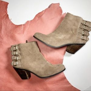 Sam Edelman Lucca Suede Leather Ankle Bootie